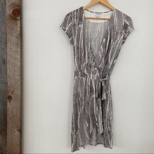 Banana Republic knit wrap dress, midi length